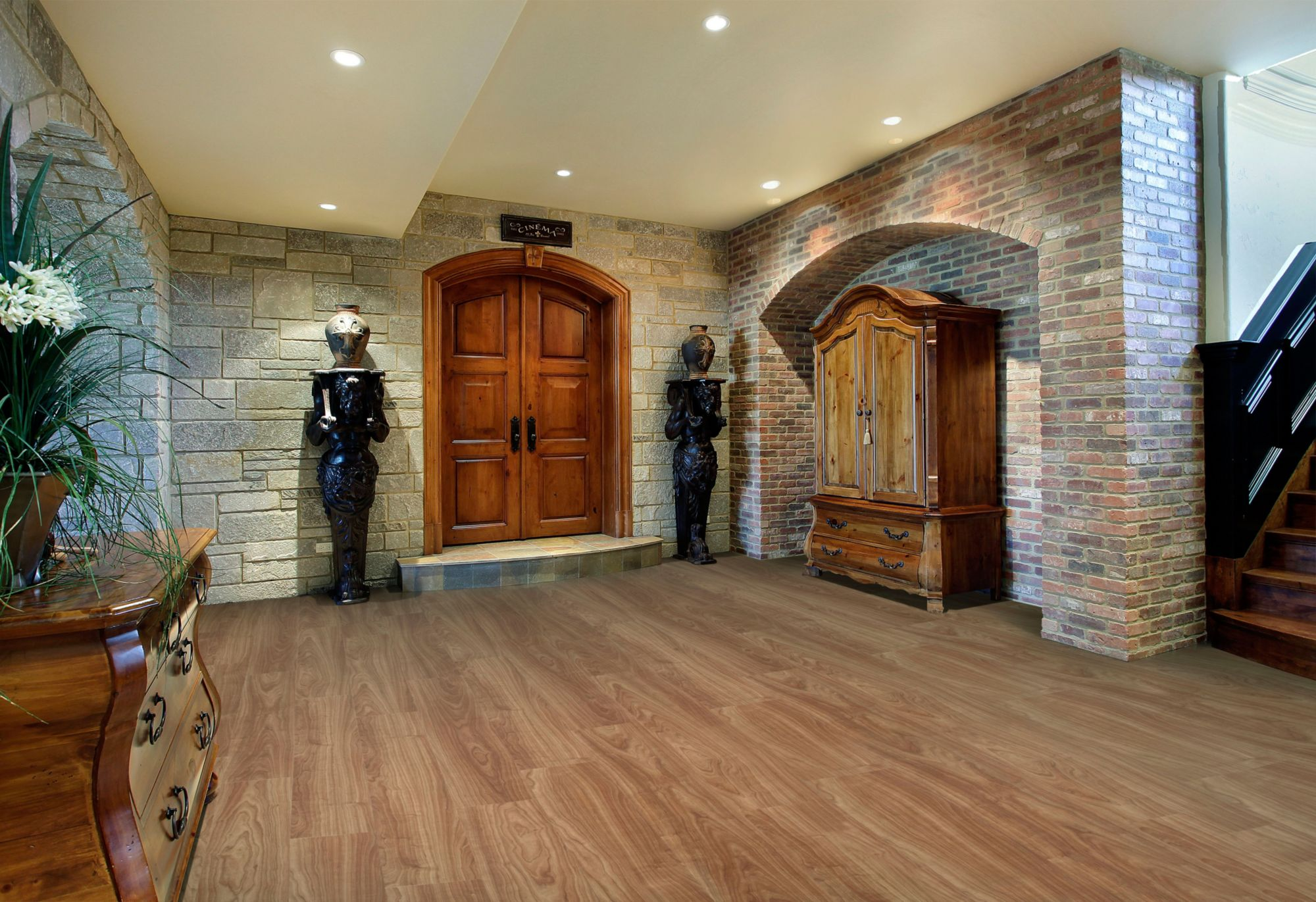 pvc boden holzoptik wohnzimmer raum und m beldesign. Black Bedroom Furniture Sets. Home Design Ideas