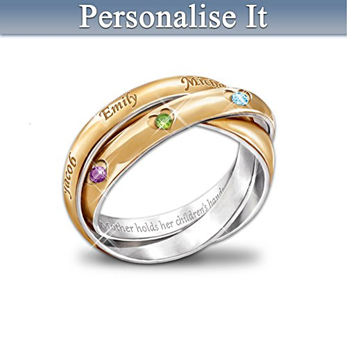 A Heartfelt Bond Mum Personalised Ring