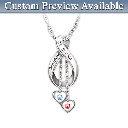 'Love Never Ends' Personalised Pendant