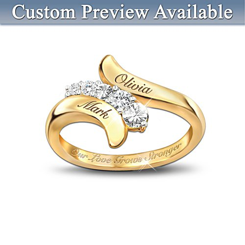 Our Love Grows Stronger Personalised Journey Ring