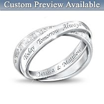 'Today, Tomorrow And Always' Infinity Ring