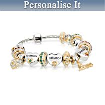 'Forever In A Mothers Heart' Personalised Bracelet