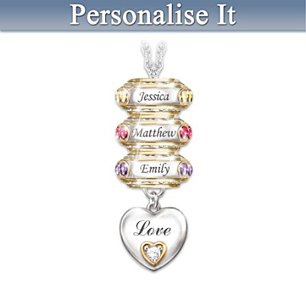 'Forever In A Mother's Heart' Personalised Pendant
