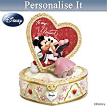 Disney Mickey Mouse And Minnie Mouse Personalised Music Box