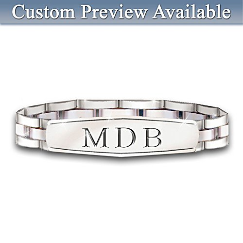 My Son, My Pride, My Joy Personalised Men's Bracelet