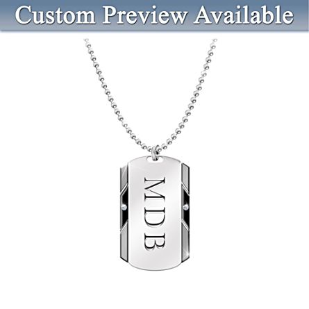 For my son personalised diamond dog tag pendant for my son personalised diamond dog tag pendant urtaz Image collections