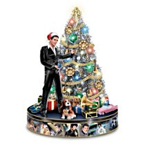 Elvis Presley Illuminated Musical Tabletop Christmas Tree