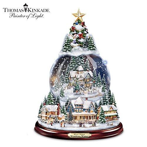 Thomas Kinkade Christmas Snowglobe Tree