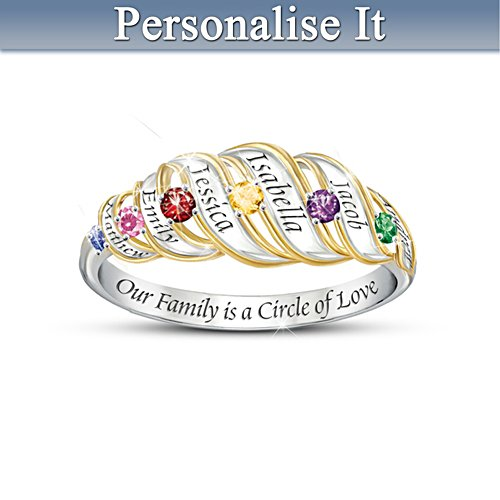 'Our Family Is A Circle Of Love'  Ring