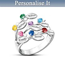Personalised Leaf-Design Ring