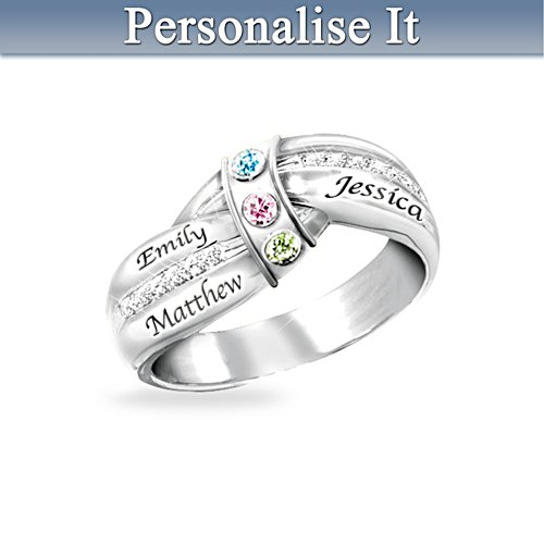 'A Mother's Embrace' Personalised Birthstone Ring