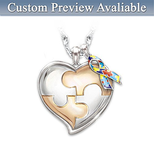 My Hero Autism Awareness Personalised Necklace