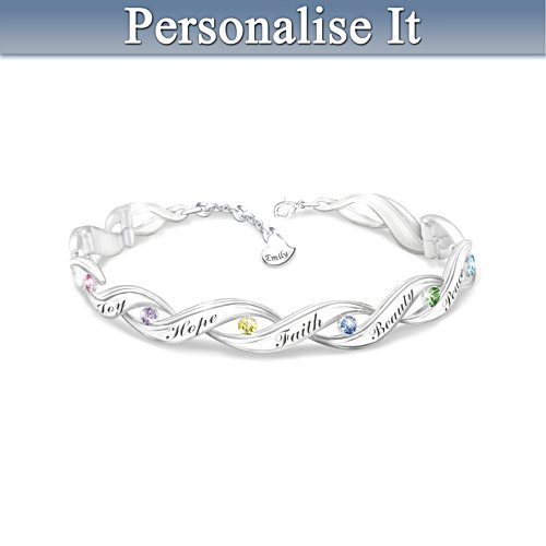 'Wishes For My Daughter' Personalised Bracelet