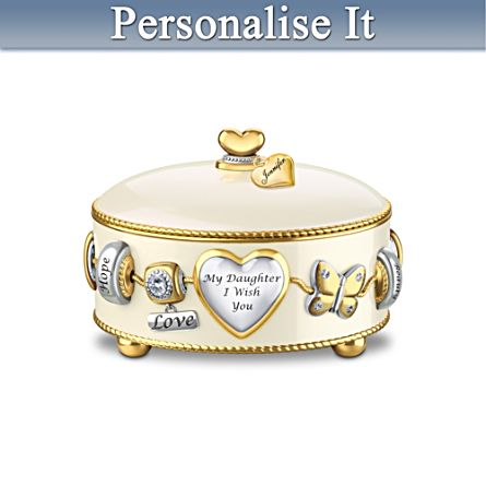'Daughter, I Wish You' Personalised Music Box