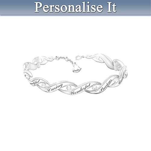 Personalised Diamond Bracelet For Daughters