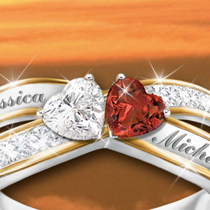 aa5ed6eb70f61 'Two Hearts Become Soul Mates' Ring