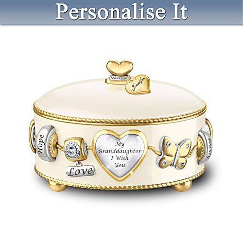 """Granddaughter, I Wish You"" Personalised Music Box"