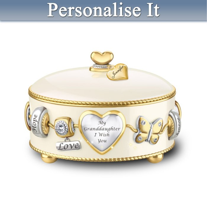 Granddaughter I Wish You Personalised Music Box