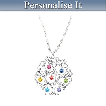 'Family Of Love' Birthstone Pendant