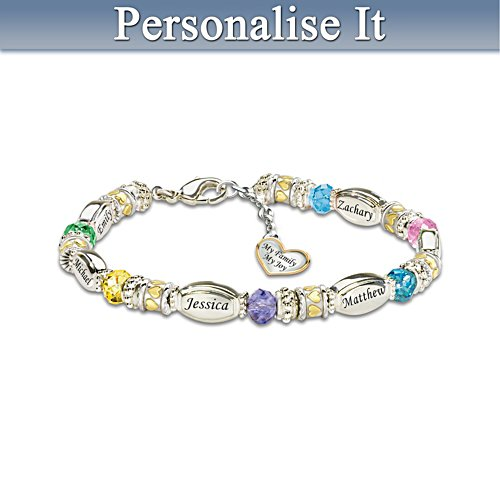 'My Family, My Joy' Personalised Bracelet
