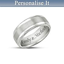 'Our Forever Love' Personalised Tungsten Ring