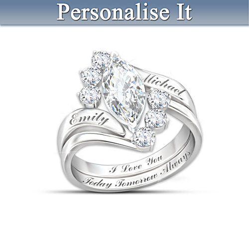 'Love Completes Us' Personalised Ring