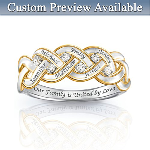 'Strength Of Family' Personalised Diamond Ring