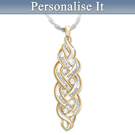 Strength Of Family Personalised Diamond Pendant Necklace
