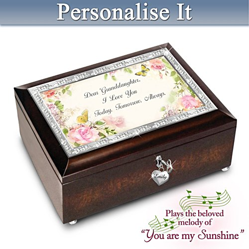 """Granddaughter, I Love You Always"" Personalised Music Box"