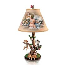 """""""Country Kitties"""" Accent Lamp"""