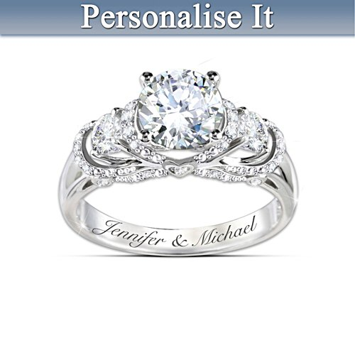 """Once Upon A Romance"" Personalised Bridal Ring"