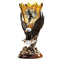 Golden Majesty Eagle Lamp