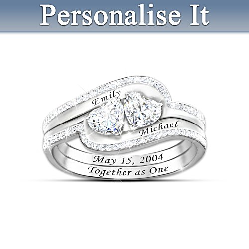 'Together As One' Personalised Ring