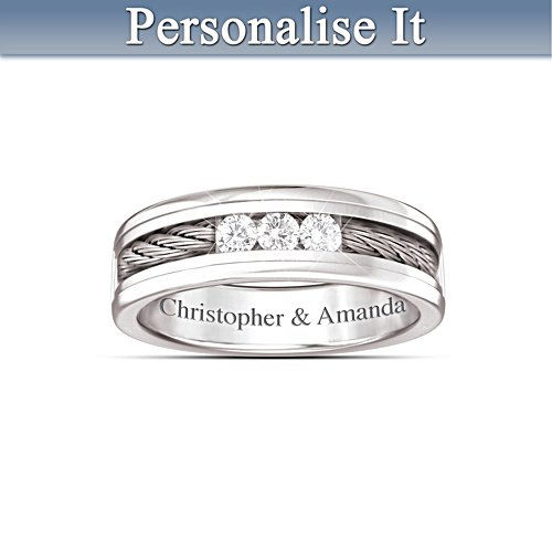 'The Strength Of Our Love' Personalised Diamond Ring