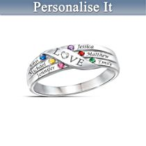 'Love Holds Our Family Together' Personalised Ring
