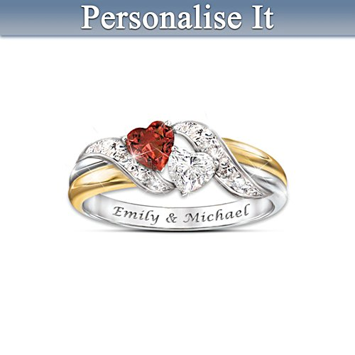 """Hearts Of Love"" Personalised Ring"