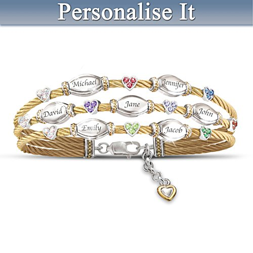 """Strength Of Family"" Crystal Birthstone Bracelet"