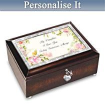 """Daughter, I Love You Always"" Personalised Music Box"