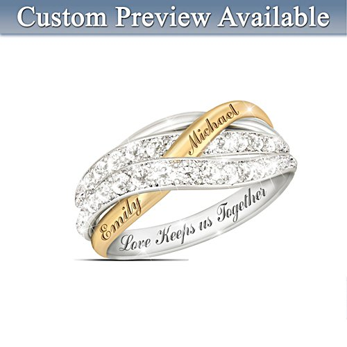 """Together In Love"" Personalised Ring"
