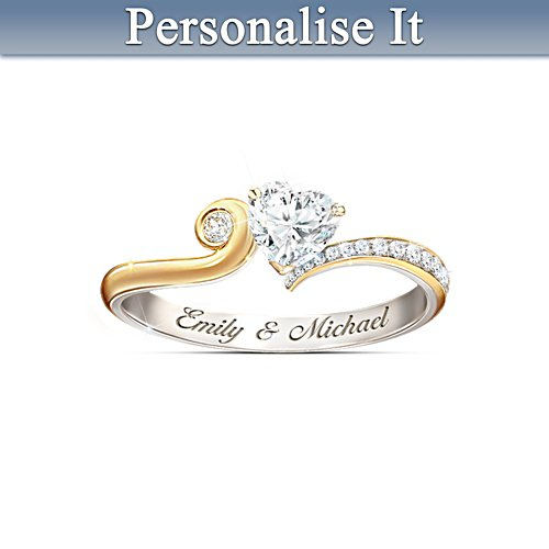 'You Make My Heart Smile' Personalised Ring