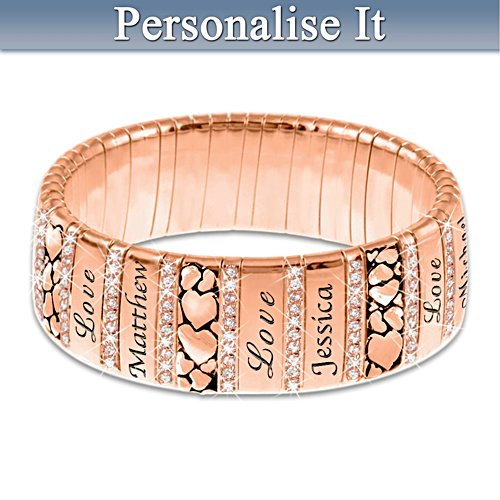 """Mum's Family Of Love"" Personalised Copper Bracelet"