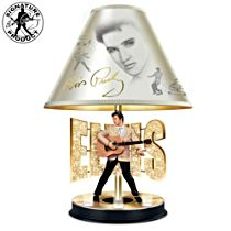 "Elvis Presley ""Golden Legend"" Lamp"