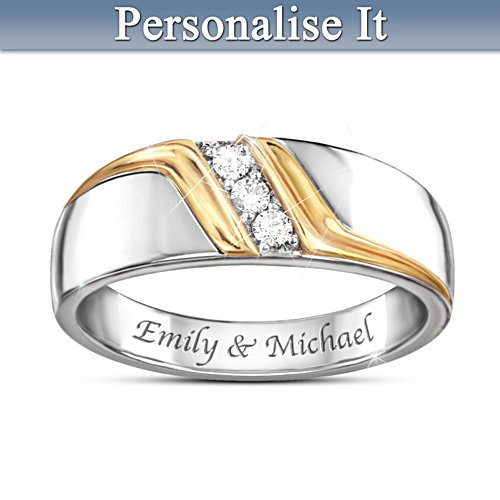 'Enduring Love' Men's Personalised Diamond Ring