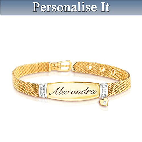 Love For My Daughter Personalised Diamond Bracelet