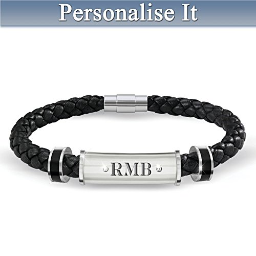My Grandson, My Pride, My Joy Personalised Diamond Bracelet