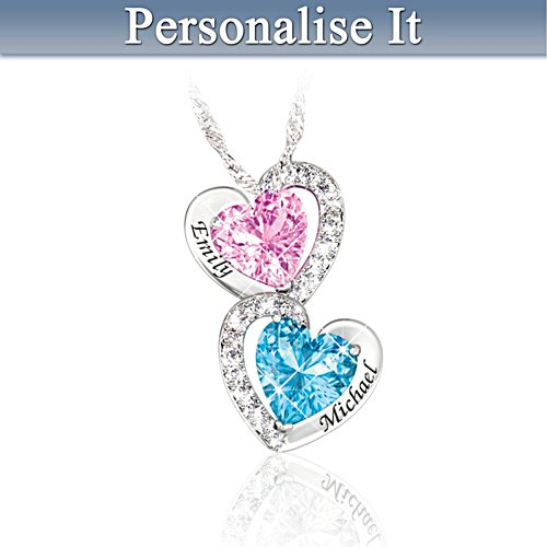 """Every Beat Of My Heart"" Personalised Birthstone Necklace"