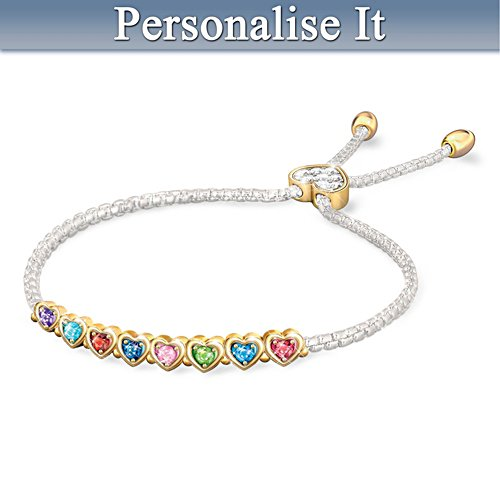 """The Heart Of Our Family"" Personalised Birthstone Bracelet"