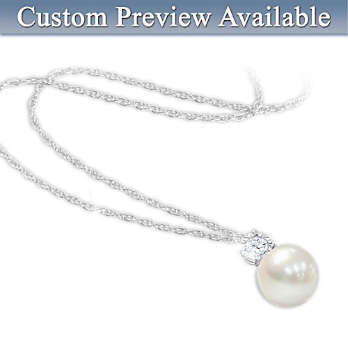 Granddaughter Personalised Pearl Necklace