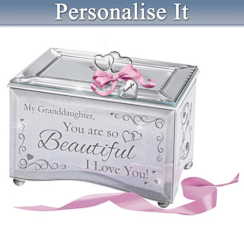 """Granddaughter, You Are So Beautiful"" Personalised Music Box"