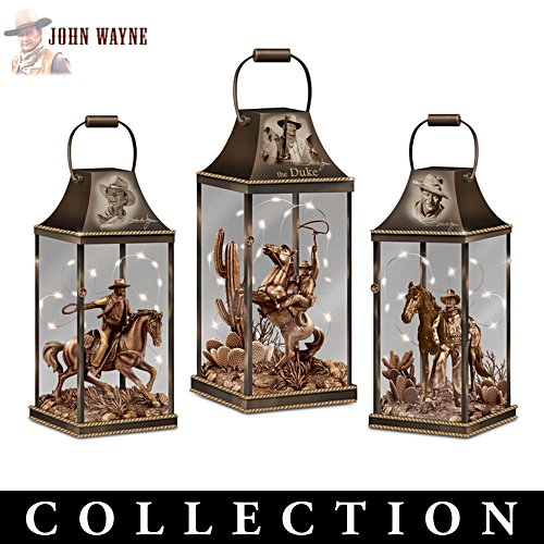 """John Wayne: Hollywood Luminary"" Lighted Lantern Collection"